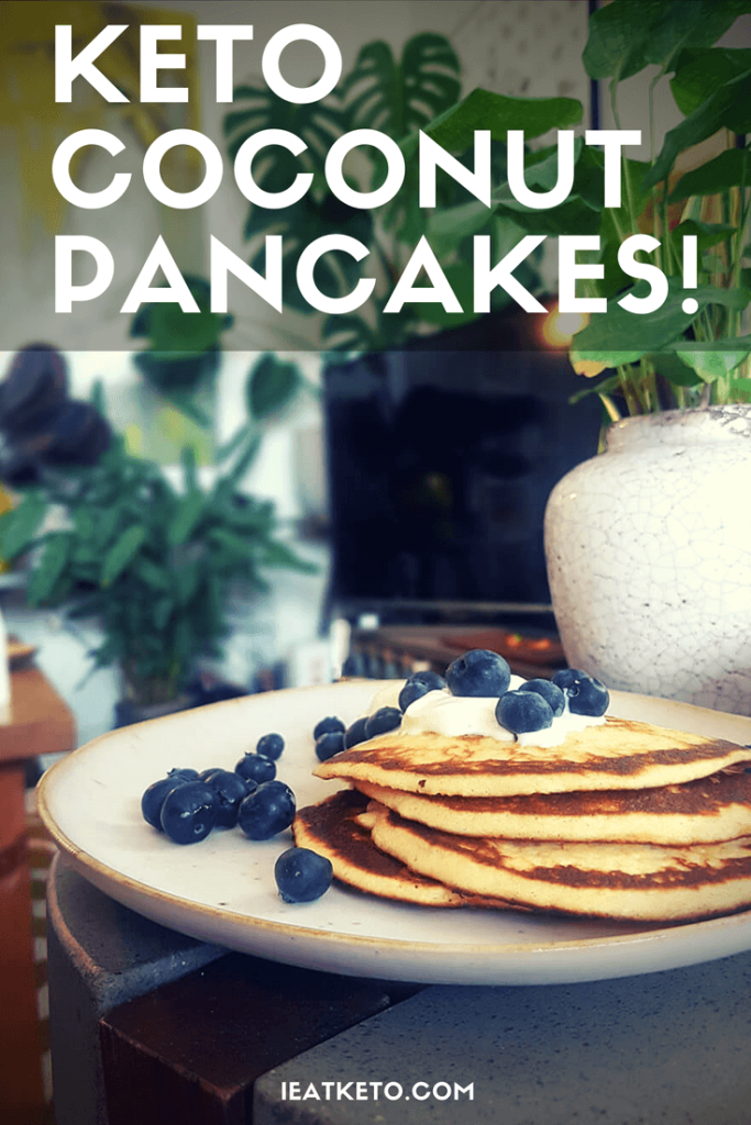 keto coconut flour low carb pancakes