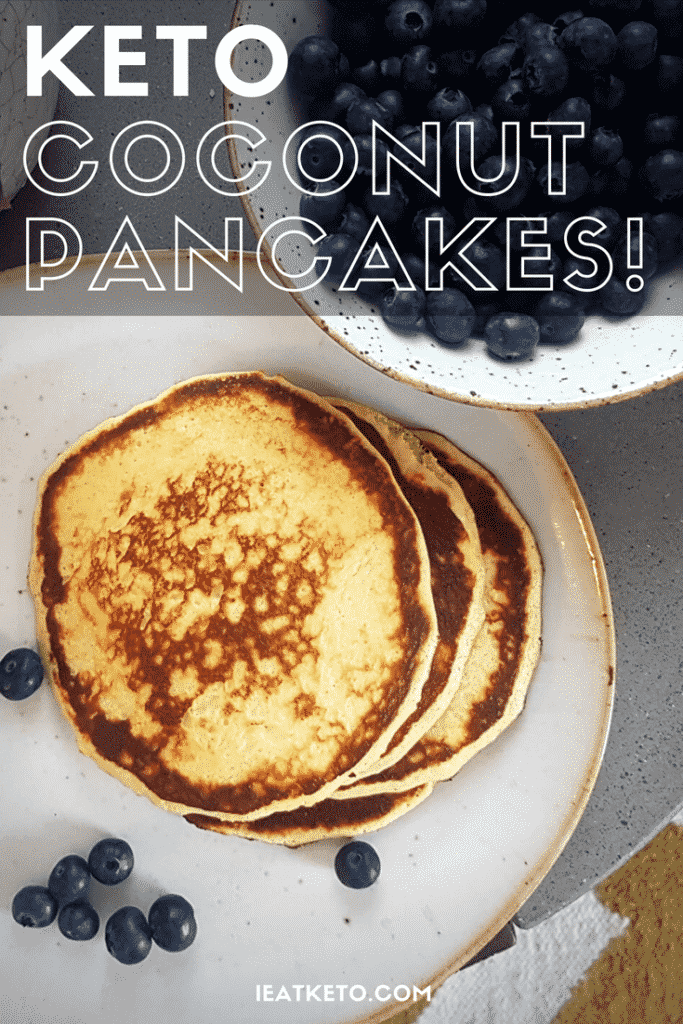 keto low carb coconut flour pancakes