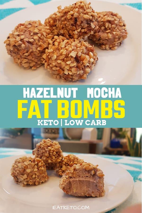 Easy fat bombs - coffee chocolate hazelnut #keto #lowcarb