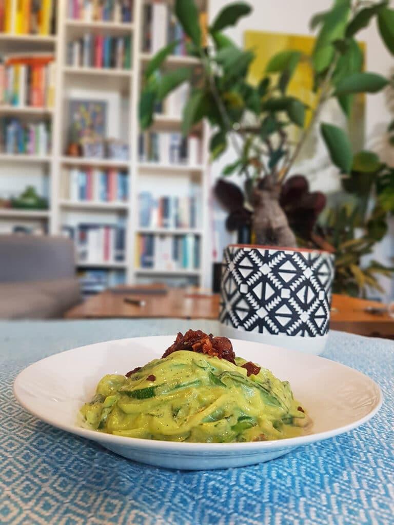 keto avocado zucchini pasta