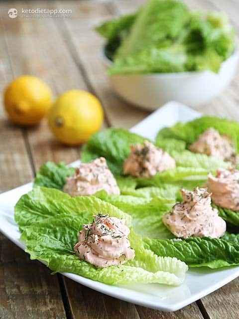 savory salmon fat bombs with cream cheese