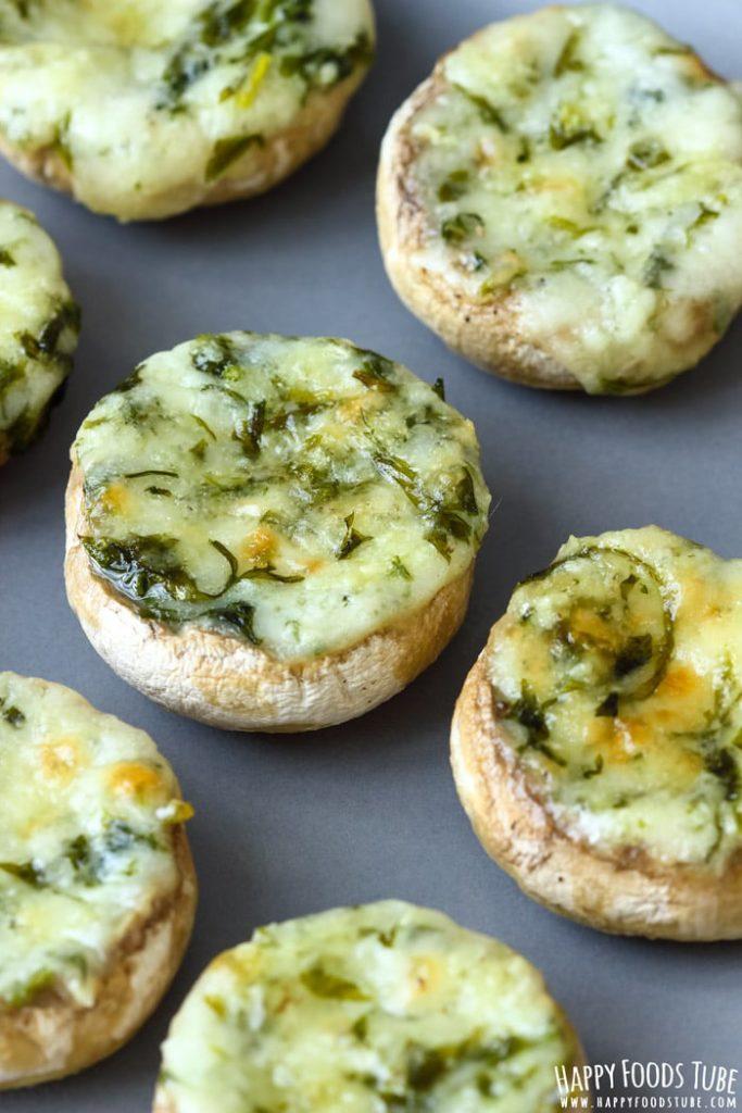 keto savory fat bombs - keto mushroom recipe with cheese filling