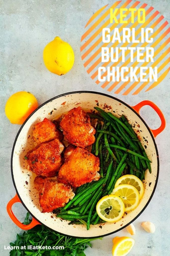 easy keto chicken dinner recipe - Garlic Butter Chicken