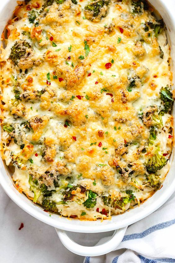 keto on a budget - broccoli casserole