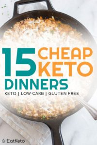 Cheap keto meals - low carb on a budget