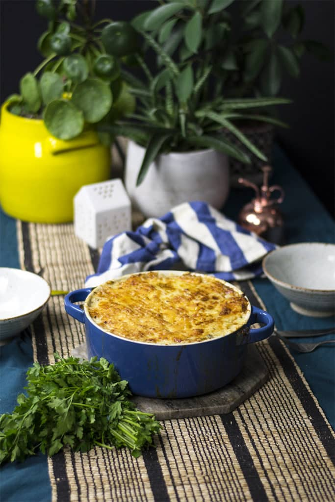 low carb keto fish pie