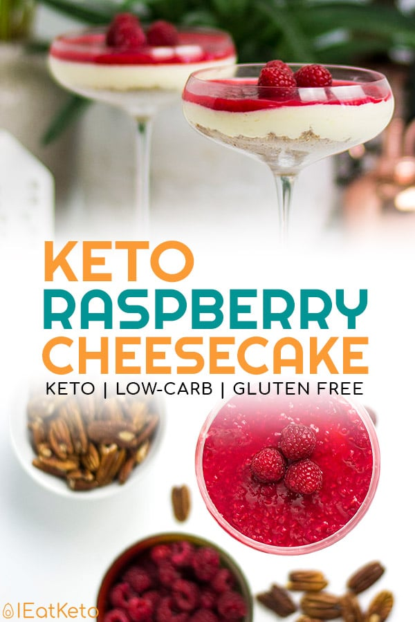 Raspberry Keto Cheesecake - Low Carb and Gluten Free