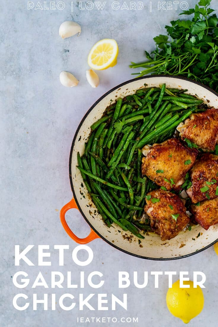 keto chicken recipe - garlic butter