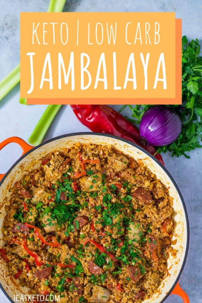 Easy Keto Jambalaya with Chicken and Chorizo