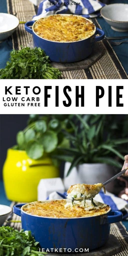 Easy Keto FIsh Pie - Low Carb and Gluten Free