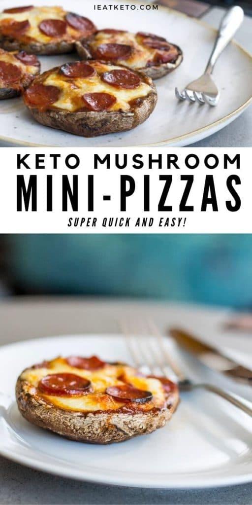 Quick and easy mushroom keto pizza recipe