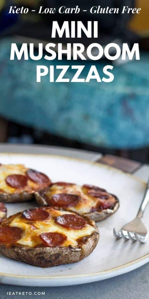 Simple Keto Pizza Recipe with Mushroom base