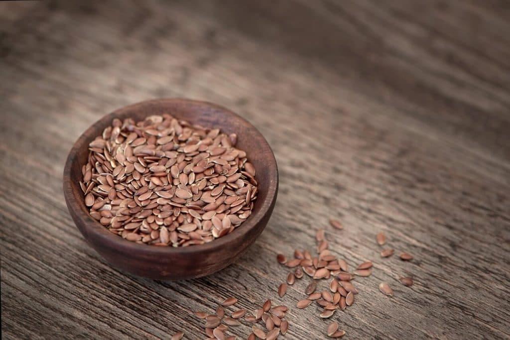 high fibre keto foods - flax seeds
