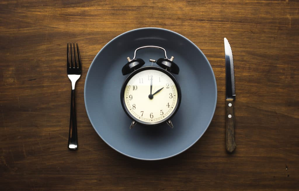 Intermittent fasting guide - clock on a plate