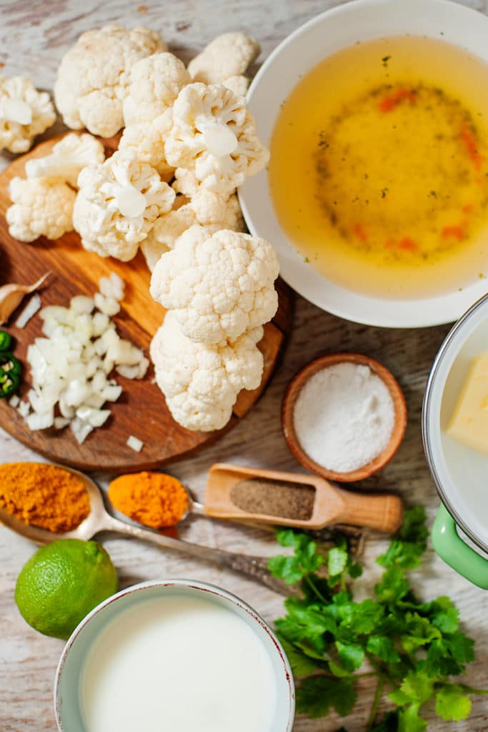 keto cauliflower soup ingredients