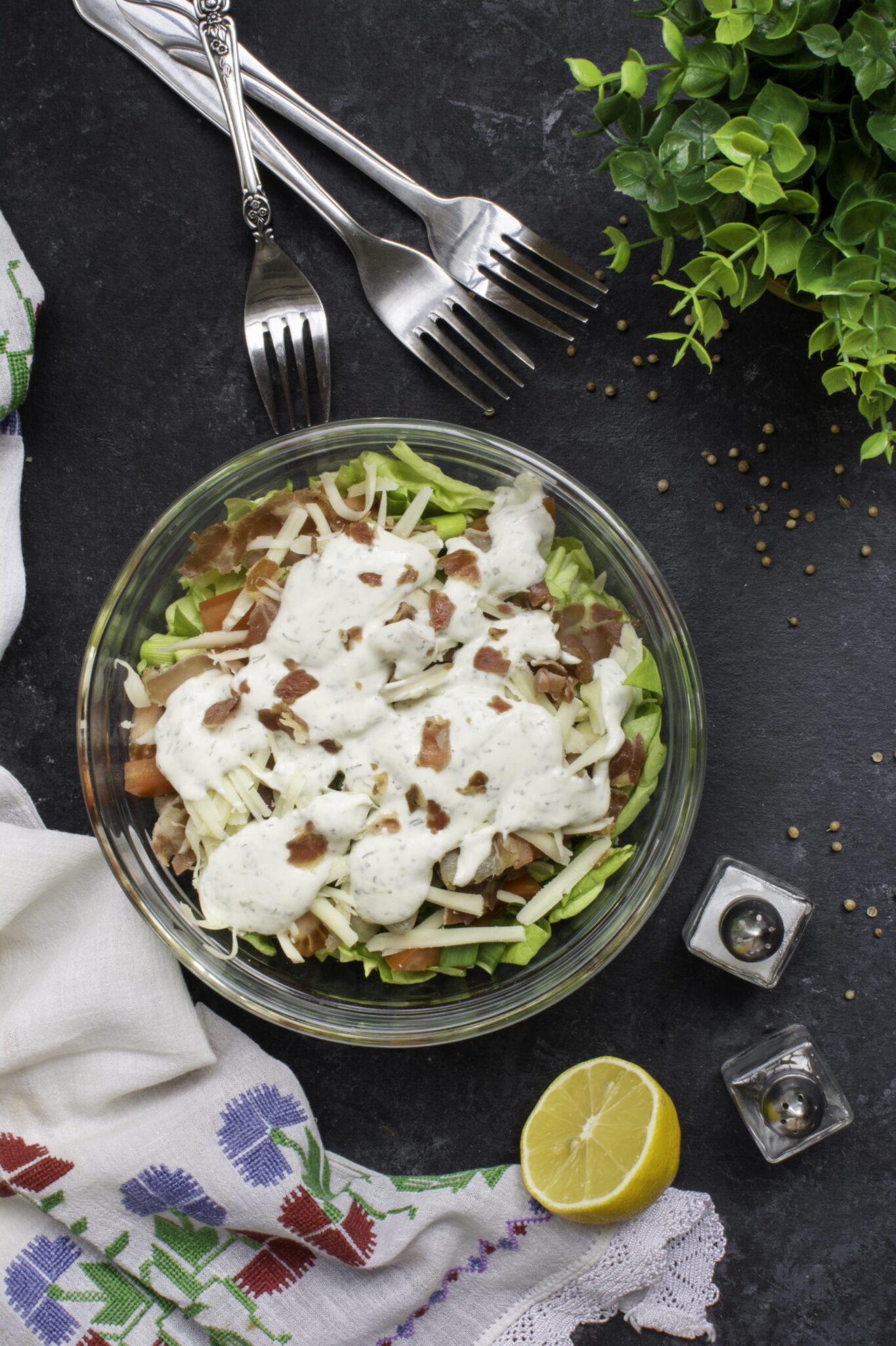 Keto Salad Recipe - BLT Bacon Lettuce Tomato