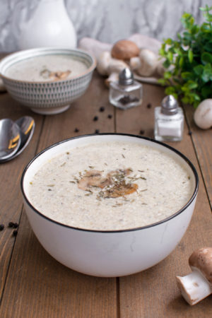 Quick and Easy keto mushroom soup recipe
