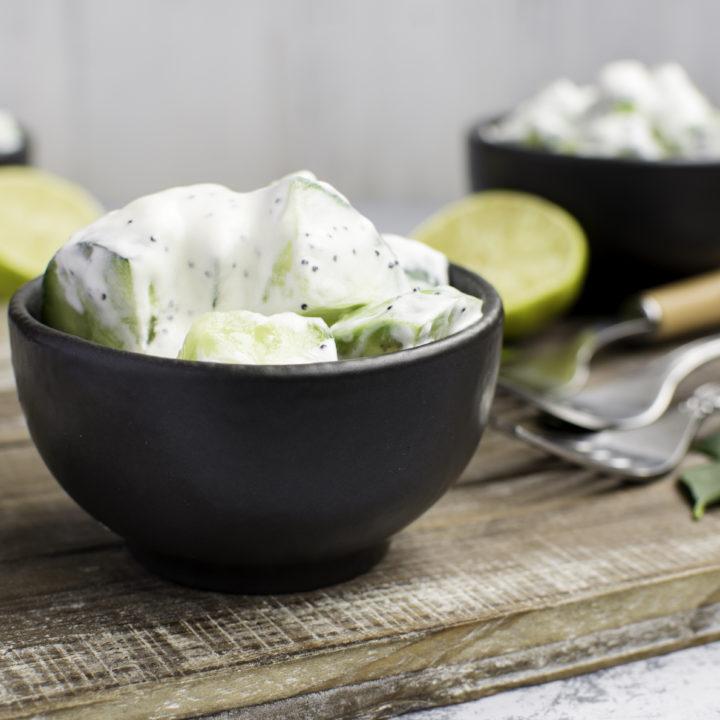 Creamy Avocado Cucumber Salad