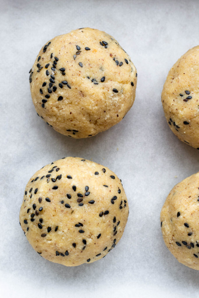 Uncooked keto dinner rolls