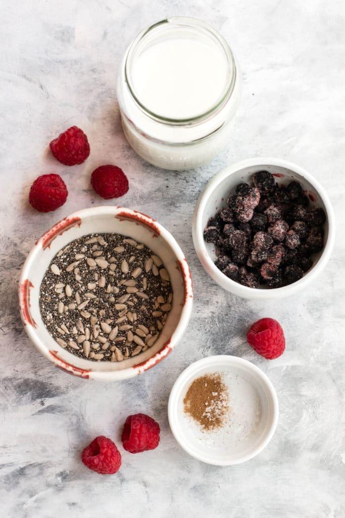 Ingredients for keto grain-free porridge