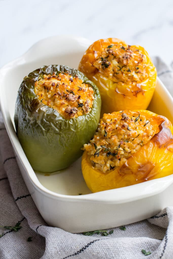 Vegetarian keto stuffed peppers