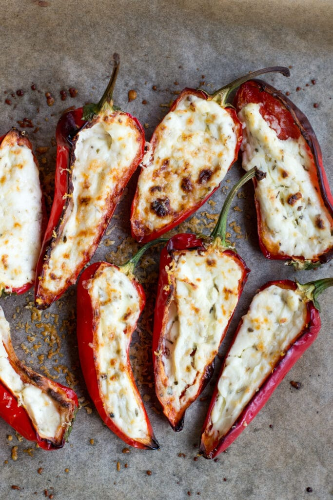 Cream cheese stuffed mini peppers