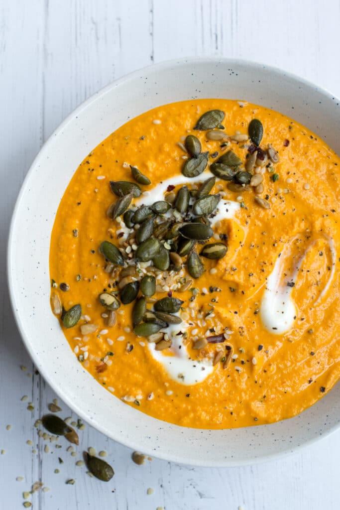 Keto roasted vegetable soup recipe