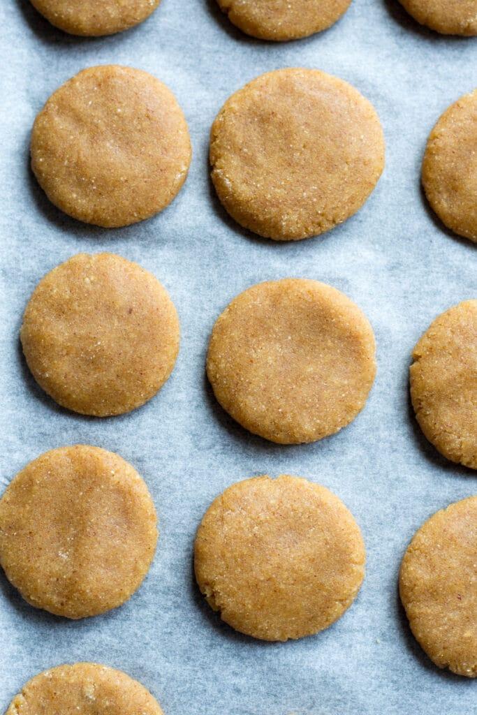 Uncooked keto peanut butter cookies