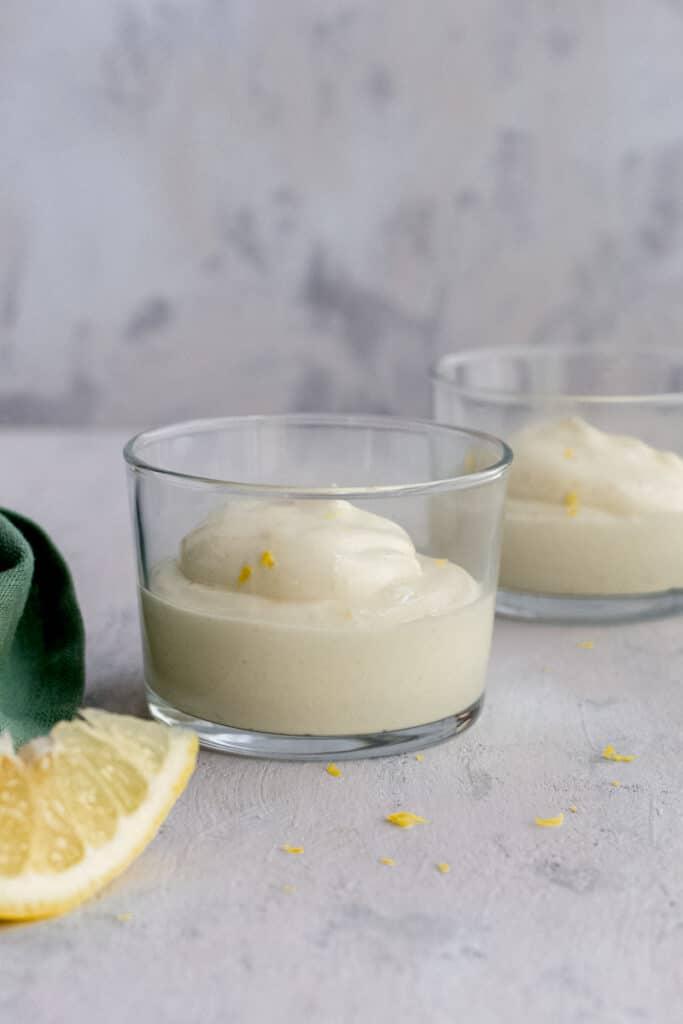 Keto lemon mousse