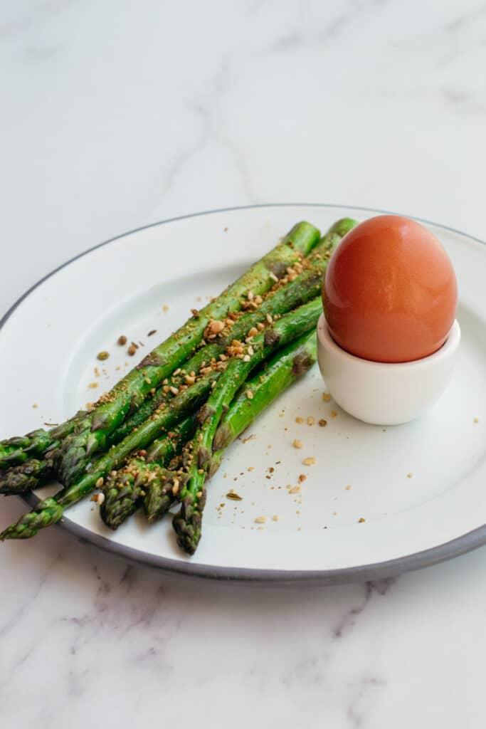 Asparagus and a boiled egg